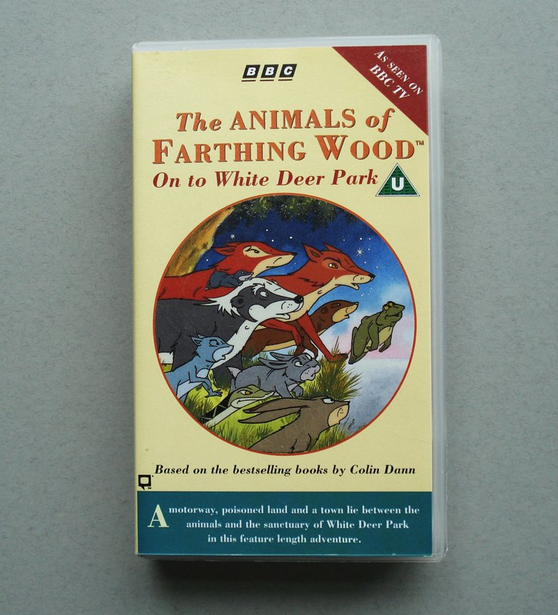 THE ANIMALS OF FARTHING WOOD On To White Deer Park RARE VHS