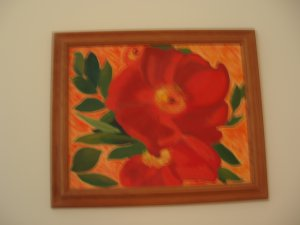 Red Flower Oil on Canvas