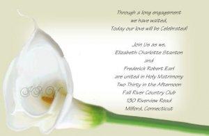 Calla Lilly Wedding Invitations