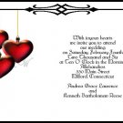 Hanging Hearts Wedding Invitations