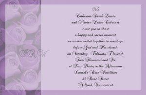 Purple Roses Wedding Invitations