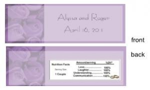 Purple Bouquet Bar