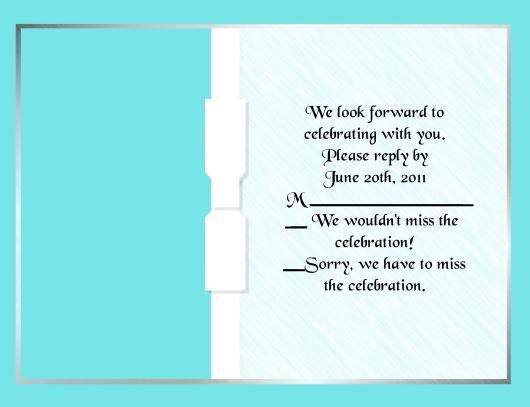 Aqua Blue rsvp cards