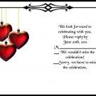 Hanging Hearts rsvp cards