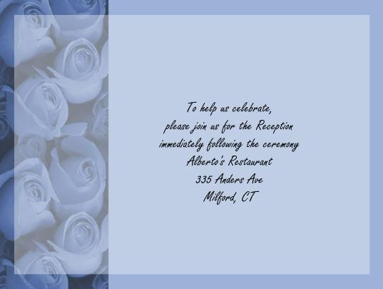 Blue Roses recption cards