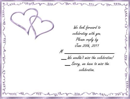 Purple Hearts rsvp