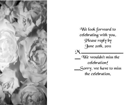 Frosted Roses rsvp cards