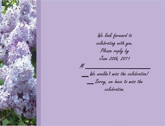 Spring Lilac rsvp cards