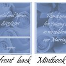 Blue Roses Mintbook / Mint Matchbook