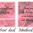 Pink Roses Mintbook / Mint Matchbook