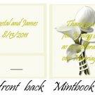 Calla Lilly 2 Mintbook / Mint Matchbook
