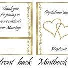 Gold Hearts Mintbooks / Mint Matchbooks