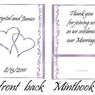 Purple Hearts Mintbooks / Mint Matchbooks