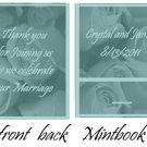 Teal Roses Mintbooks / Mint Matchbooks