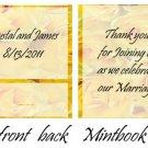 Yellow Roses Mintbooks / Mint Matchbooks