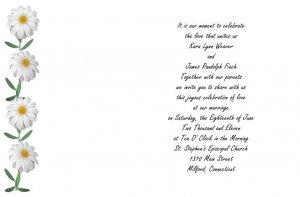 Daisy Chain Wedding Invitations
