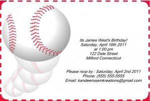 Baseball2 kids birthday invitations