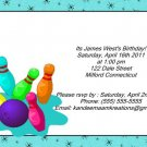Bowling kids birthday invitations