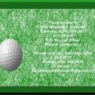 Golf kids birthday invitations