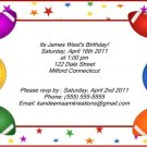 Football1 kids birthday invitations