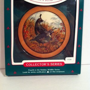 "Hallmark 1985 ""CALIFORNIA PARTRIDGE"""
