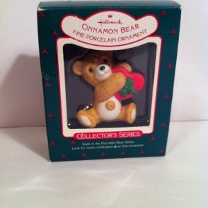 1988 Hallmark Ornament CINNAMON BEAR #6 Porcelain Bear