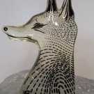 RARE Abraham Palatnik FOX HEAD Lucite Acrylic Sculpture Figurine Brazil PAL 375