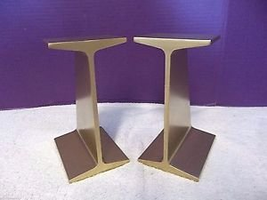 VTG HEAVY I Beam Railroad Track Rail Industrial Modern Sculpture Bookends 2370
