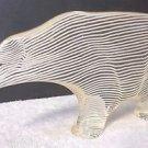 Vintage Abraham Palatnik Lucite Acrylic Polar Bear Sculpture Figurine Pal 2448
