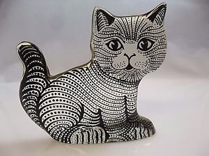 VTG Abraham Palatnik Lucite Acrylic Feline Cat Kitten Sculpture Figurine 2477