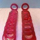 (20) Vintage NOS Cranberry Fuchsia Lucite Acrylic Bangle Bracelets Estee Lauder