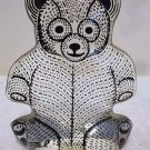 VTG Abraham Palatnik Lucite Acrylic Teddy Bear Sculpture Figurine 408