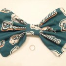 "Large Florida NFL ""Miami Dolphins"" Fan Huge Massive Scene Fashionista Hair Bow"