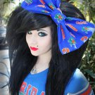 Large Florida Gator cotton blend fabric Massive Scene Fashionista Huge Hair Bow
