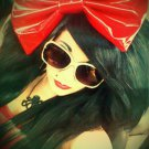 Large Red Pleather Huge Massive Fashionista Scene Hair Bow w/snap clip