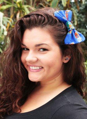 """Mini University of Florida """"Florida Gator"""" cotton blend Hair Bow w/snapclip"""