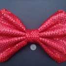 "Large ""Shiny Red Sequin Dot""  Massive Scene Fashionista Huge Hair Bow"