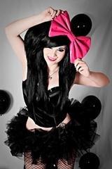 "Sale Medium ""Packed Hearts on Black Fashionista Hair Bow w/snapclip"
