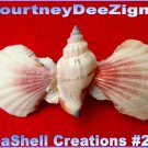 Artisan Seashells French Style Barrette #259 Handmade Hair & Accessory Jewelry
