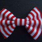 "Mini Valentine's Day Bow ""Red & White Stripes"" Scene Cosplay Hair Bow w/snapclip"