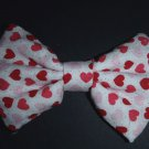"Valentine's Day Bow ""Red Cupids on White"" Fashion 7"" x 10"" Hair Bow w/snapclip"