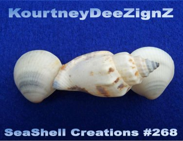Seashells Hair Accessories Nautical Barrette #268 Handcrafted Beach Ware