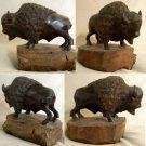 Buffalo Wood Carving