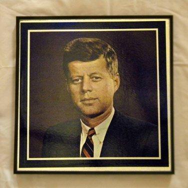 Framed Vintage Record Album  -  John F. Kenndy  0055