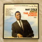 Framed Record Album Cover  - The Unforgettable Nat Cole Sings The Great Songs  0062