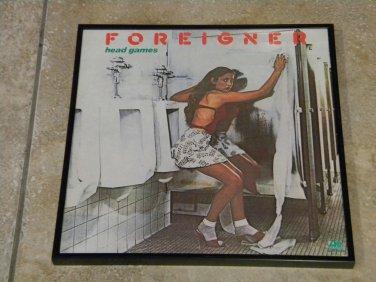 Foreigner � Head Games - Framed Vintage Record Album Cover � 0134