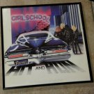 Hit and Run - Girlschool - Framed Vintage Record Album Cover - 0166
