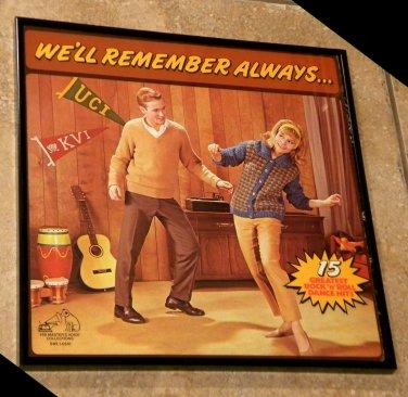 We'll Always Remember - Framed Vintage Record Album Cover � 0176