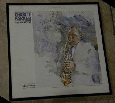 One Night in Washington - Charlie Parker - Framed Vintage Record Album Cover � 0188