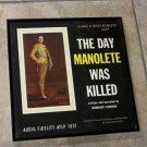 The Day Manolete Was Killed - Framed Vintage Record Album Cover – 0205